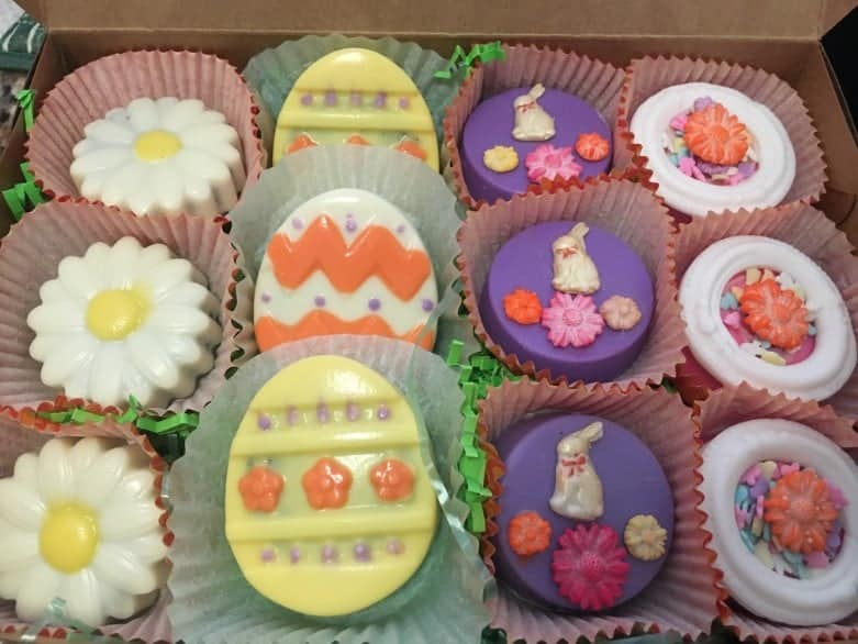 Easter Theme Chocolate Covered Cookies